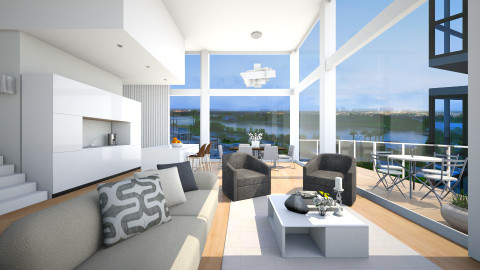 Parkside Condo - Modern - Living room  - by channing4