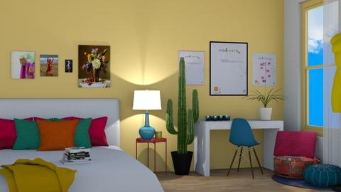 Indian Colour Palette - Bedroom  - by MillieTZ