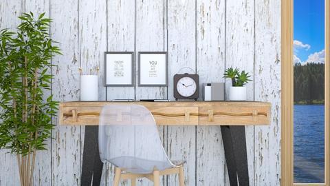 Wooden desk - Office - by eliseatlife