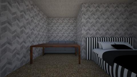 Moody bedroom - Modern - Bedroom  - by Iceekreme