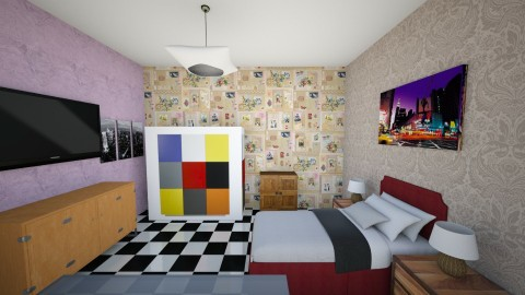 Studio type - Country - Bedroom  - by cjmola