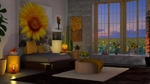 Sunflower  - Living room - by Sue Bonstra