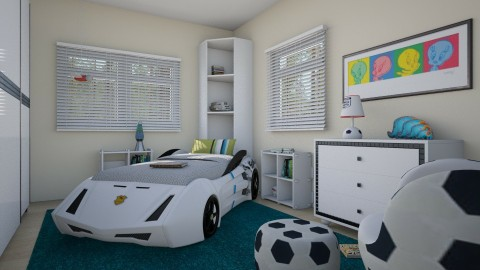 For Kristelkowski s Boy - Eclectic - Kids room  - by Theadora