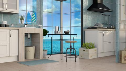 Ocean Inspired Kitchen - Eclectic - Kitchen  - by Sally Simpson