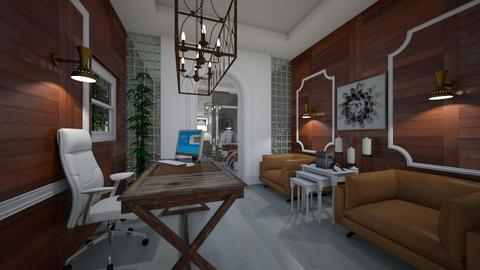 Office_Reception_Interiors_Wood_Glass - Modern - Office  - by Nikos Tsokos