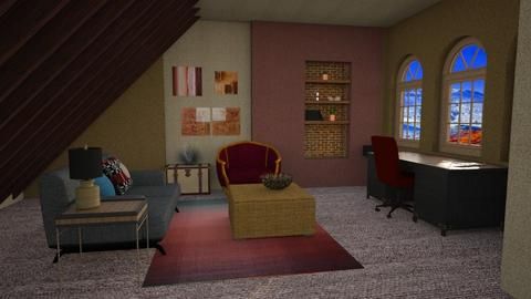 red stone office - Office  - by Moonpearl
