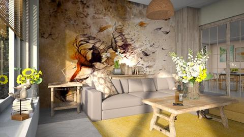 Sunflower - Living room - by ZuzanaDesign