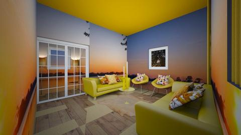YELLOW - Glamour - Living room  - by Little_Laya