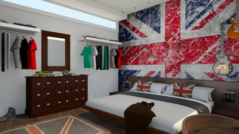 English boy - Retro - Bedroom  - by Sali15