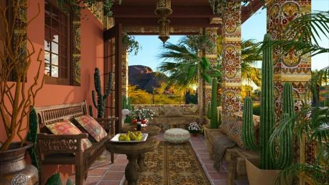 Design 209 Small Hacienda Balcony - Garden  - by Daisy320