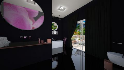 Cherry Blossom Bathroom - Bathroom  - by Khayla Simpson