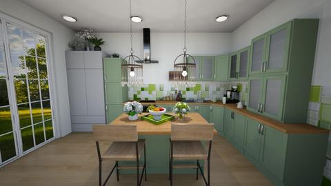 Green Kitchen - Kitchen  - by Feeny