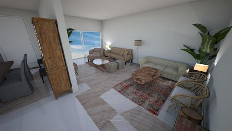 boho living room 3 - Living room  - by Ibti99