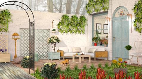 Small Living Patio - Country - Garden  - by Sally Simpson