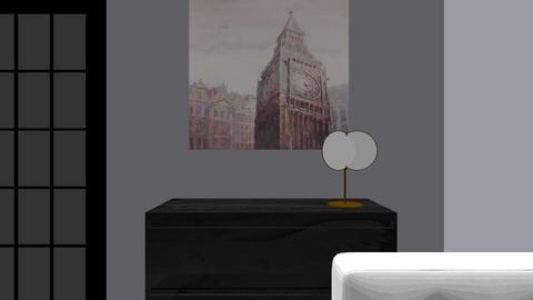 Dark bedroom - by emmariewells