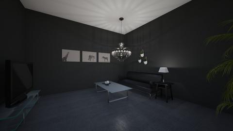 black living room - Living room  - by ehight4