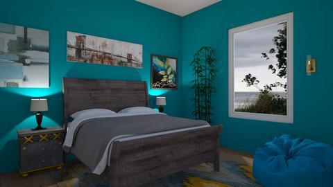 Teal Beach Bedroom - Bedroom  - by 0194364