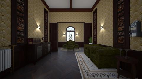Retro Hallway - Vintage - by kristianvalchev