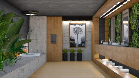 bathroom wood - by Maryjo1965