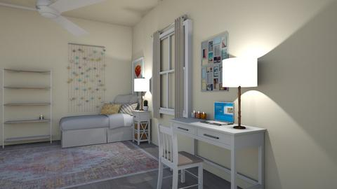 Dorm Room Layout Ideas - Modern - Bedroom  - by lizzyjlawr14