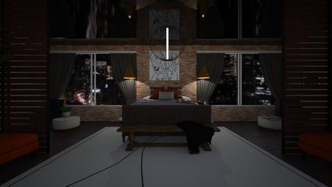 studio apartment - Bedroom  - by mood_scorpio