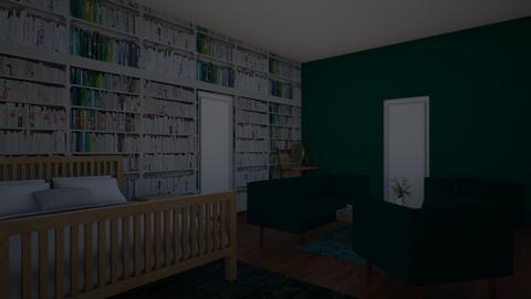 Green Master Bedroom - Country - Bedroom  - by PHBNINI