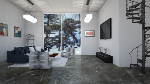 Winter chill - Living room  - by babucka