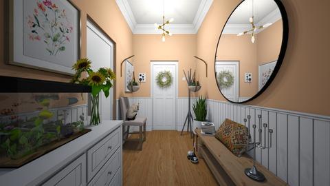 Welcoming Hallway - Living room  - by kristenaK