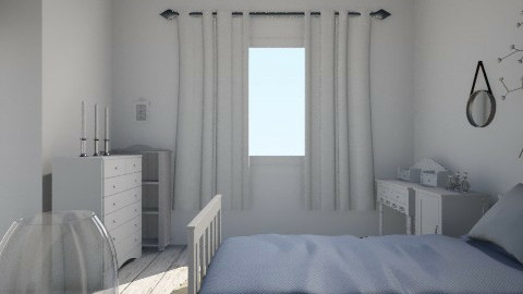 white new room - Bedroom - by sophiesweetie8