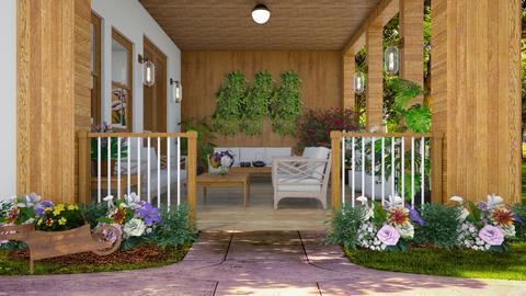 Summer Woden porch - by Themis Aline Calcavecchia