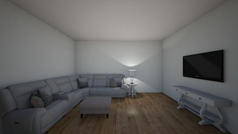 grey livingroom complemen - Living room  - by aadams9