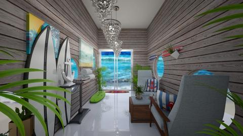 Surf culture Hallway - by I_love_my_dog_icecream_and_cookie