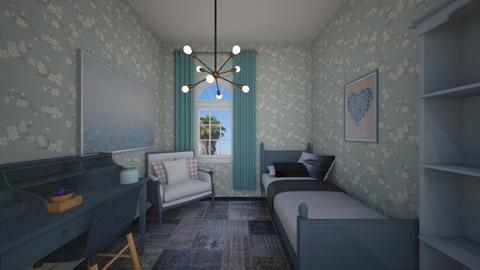 blue back dorm  - Modern - Bedroom  - by aschaper
