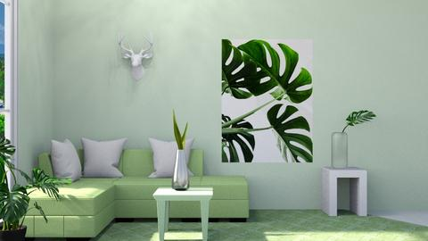 Green Leafs - Living room  - by Christina8898