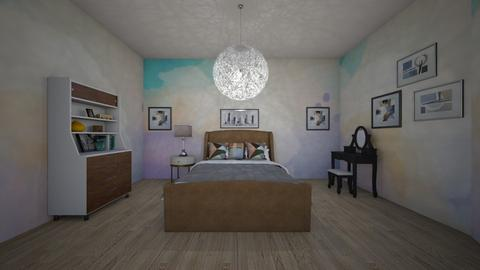 watercolor bedroom - Eclectic - Bedroom  - by aschaper