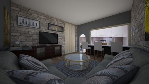 single - Modern - Living room  - by Ritus13