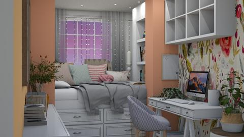 Student Dorm - Feminine - Bedroom  - by NEVERQUITDESIGNIT