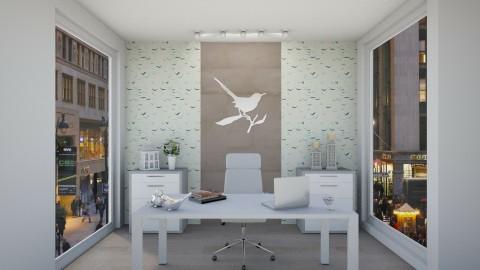 Bird love office  - by gabemarcos