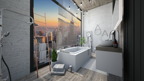 loft bathroom - Modern - Bathroom  - by esmeegroothuizen