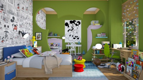 Mickey_world  - Eclectic - Kids room  - by jhgfgth