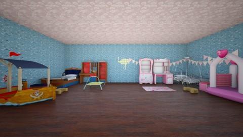 this is what happened  - Retro - Kids room  - by Cheyenne Stephenson