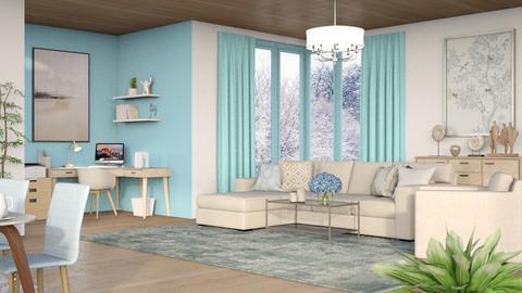 Blue winter - Classic - Living room  - by Oyisha