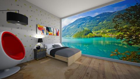 mountains and bedroom - by Natasha W