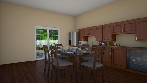 Wood Themed Kitchen - Kitchen  - by midnightspotlight