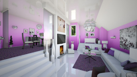 Ombre Orchid - Glamour - Living room  - by Lackew