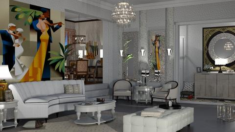 Art Deco Gatsby - Living room  - by nat mi