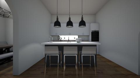 Blue bedroom kitchen - Modern - Bedroom  - by Annabel C