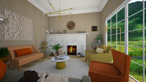 MCM Living  - Retro - Living room  - by camilla_saurus