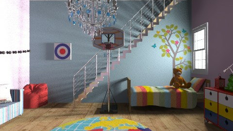 kids bed play room - Modern - Kids room  - by bethany81