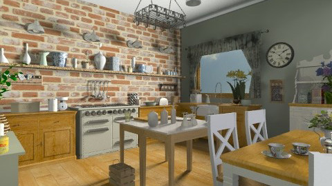 Country Kitchen - Country - Kitchen  - by camilla_saurus